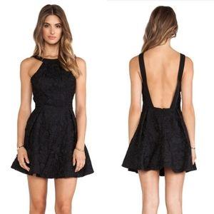 Keepsake Take It All Backless Lace Mini Dress